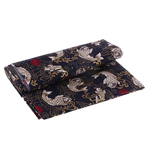 Hellery 100% Algodón Carpa Tela Kimono Yukata Material De Confección Estilo Japonés - 1 Metro, Individual
