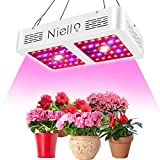 Niello COB Plant Grow Light 600w, Latest Cree COB LED Grow Lamp, Reflector Series LED Plant Lamp Full Spectrum, Dual Chips Plant Light for Indoor Plants Veg Bloom and Flower with Daisy Chain