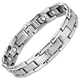 Willis Judd Magnet Schmuck Armband Herren Titan extra Starke 3000-Gauss-Magneten