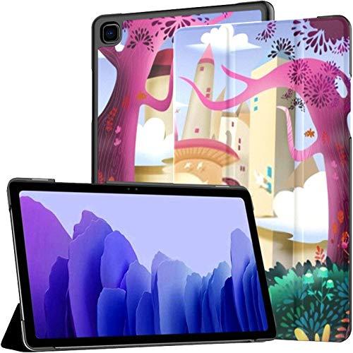 Funda para Samsung Galaxy Tab A7 Tablet de 10,4 Pulgadas 2020 (sm-t500 / t505 / t507), Forest Castle Carcasa de Soporte de ángulo múltiple de Dibujos Animados fantásticos realistas con activación/s