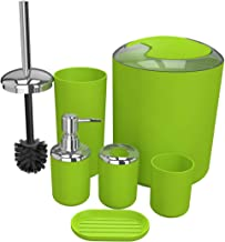 Lime Green EVIDECO 6318N140 Bathroom Toothbrush and Toothpaste Holder Shiny Solid Colors with Chrome Base