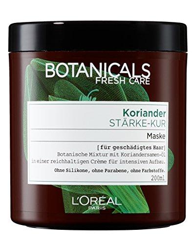 Botanicals tiefenpflegende Haarmaske Fresh Care Koriander Stärke-Kur, Maske für geschädigtes Haar, Haarpflege ohne Silikon, 1er Pack (1 x 200 ml)