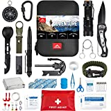 Survival Kit by FRONTERA, 55 Pcs, Survival Gear and Equipment, Camping Accessories,Tactical Gear, First Aid Kit, Emergency Kit, Cool Gadgets for Men, EDC Gear, Bugout Bag, Hiking Gear, Gifts for Men.