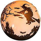 "Plow & Hearth 88019 Halloween Glowing Luminary Outdoor Garden Globe, 9"" Diameter x 9"""""