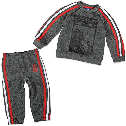 adidas Kinder Star Wars Darth Vader Trainingsanzug Kleinkinder Anzüge & Bodies, Grau, 62
