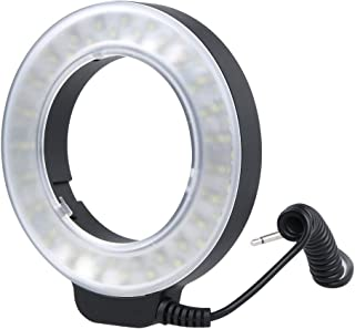 LANFLAA Luz LED Circular con 48 Luces LED y 6 Anillos adaptadores (49 mm / 52 mm / 55 mm / 58 mm / 62 mm / 67 mm) for Obje...