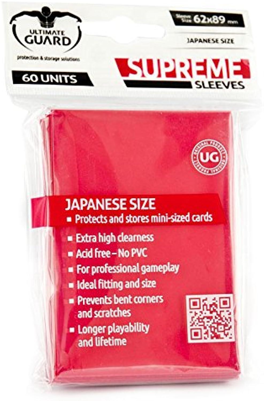 Ultimate Guard Supreme Mini Red Sleeves (60-Sleeve)