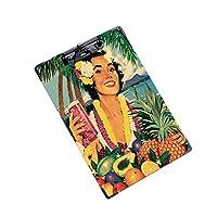 クリップボード A4サイズ対応 レンジップボード 会議資料など挟笑顔の女性とトロピカルフルーツ (2個)