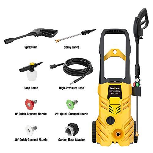 WestForce 2800PSI Electric Pressure Washer,1.76GPM Car Power Washer High Pressure Washer Machine with Spray Gun, Pressure Hose