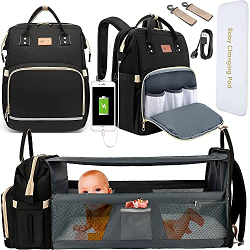 DEBUG Baby Diaper Bag Backpack with Changing Station Baby Bags for...