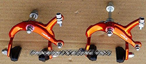 Radius Forged Aluminum Alloy Brake Caliper Kit - ORANGE, for fixie fixed gear road bikes