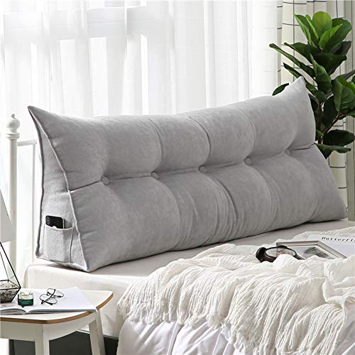 PP&DD Dreieck Abnehmbare Bett Kissen,Single Doppelte rückenlehne,Tatami Lange Kissen,Sofa Kissen Kopfpolster Bett-A 180x50x20cm(71x20x8)