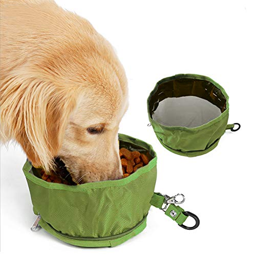 Kalinin large collapsible dog bowl can be used for food and water, pet training bag snack bag is suitable for poodle/husky/Alaska, collapsible pet bowl is perfect for hiking and camping