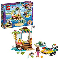 This rescue set features an amphibious toy car, a beachside clinic on stilts with an examination area and a sand playground plus an island Includes an Olivia Mini-doll figure, plus a Zobo the robot figure and four cute baby turtle figures Kids will g...