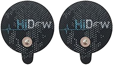 HiDow Tens Unit Replacement Stim Pads Large Round Electrodes | Premium Quality Large Electrode Pads Competable with Hi-Dow | IQ Massager | Healthmateforever TENS Units