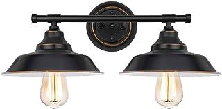 Bathroom Mirror Light Black Vintage Wall Light Indoor Industrial Bathroom Wall Lamp 2Lights E27 Mirror Lighting Fixtures f...