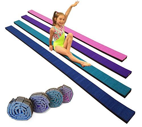 Gymnastics Flexible Roll-Up Foam Training Balance Beam! (Blue)