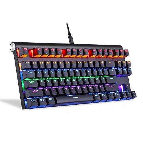kaige Wired Bluetooth de Doble Modo de Teclado mecánico Compatible con Tres Sistemas (Color: Negro con Cable Bluetooth) WKY (Color : Wired Bluetooth Black)