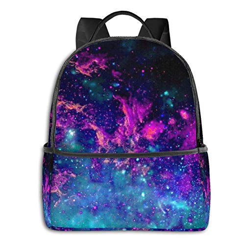 IUBBKI Mochila lateral negra Mochilas informales AdultBlue Universe Galaxy Magic Wolf in The Space (8) Backpack Multipurpose Computer Backpack with Padded Straps Casual Backpacks for High School Colle