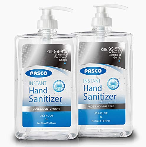 Pasco Hand Sanitizer, Pump Bottle Sanitizer, 70% Alcohol,...