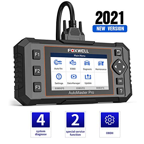 FOXWELL NT614 Elite OBD2 Scanner, [2021 New Version] ABS SRS Engine Transmission Diagnostic Tool with Oil Light & EPB Reset, Check Engine Code Reader, Airbag SRS Car Scanner Diagnostic for All Cars