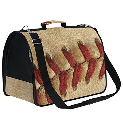 Buyxbn Baseball-Sporttasche für Hunde und Katzen, modisch, für Reisen, Wandern, Tiere, klein