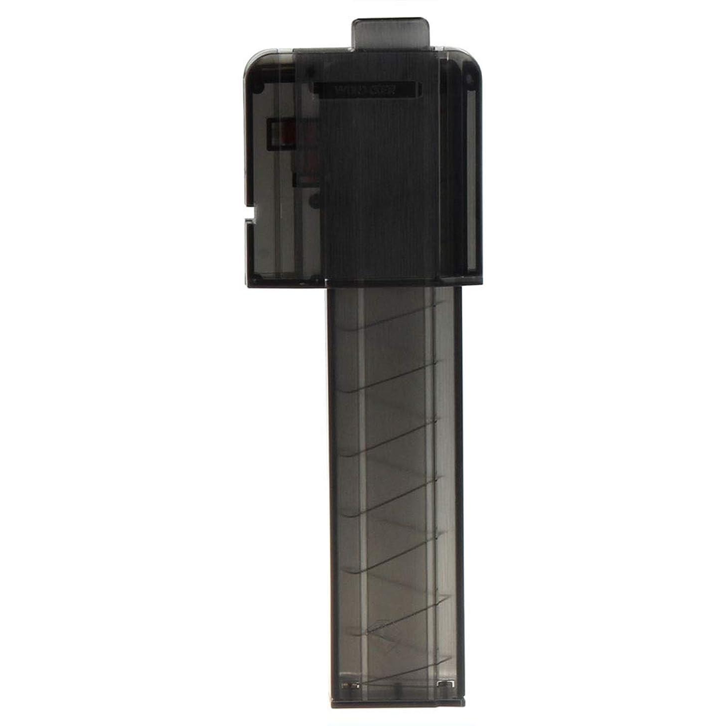 Yamix Worker Narrow Magazines with Worker Clip Neck Adaptor, 18-Dart Short Darts Magazine Quick Reload Clip with Worker Talon (Transparent Black)