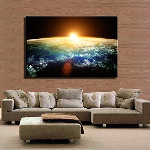 GJQFJBS Abstrakt Raum Wanddekoration Kunst Hd Bild Schöne Landschaft Wandbild Gedruckt Auf Leinwand A4 60x80cm