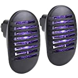 Micnaron 2 Pack Indoor Bug Zapper, Plug in Mosquito Killer with UV Light, Electronic Insect Trap for Pests Fruit Flies Flying Gnats