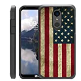 Untouchble   Compatible with LG Stylo 4, LG Q Stylus (2018) Flag Case [Shock Bumper Case] Slim Heavy Duty Cover with Dual Layer Protection - Vintage American Flag