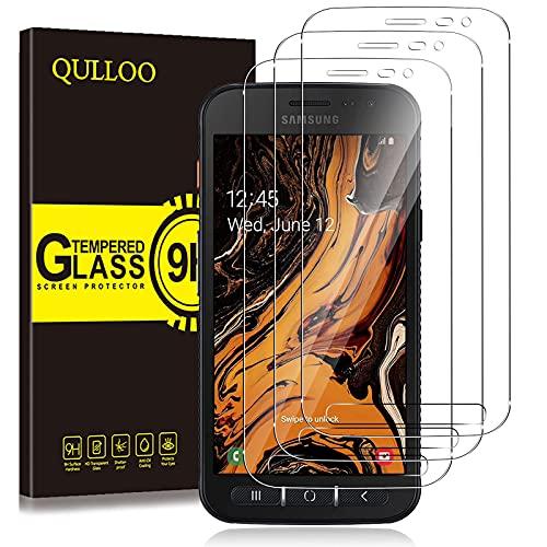 QULLOO per Samsung Galaxy Xcover 4S / 4 Vetro Temperato Pellicola Protettiva, [3 Pezzi] 9H Durezza Full Coverage Protezione Schermo in Vetro Temperato per Galaxy Xcover 4S / 4