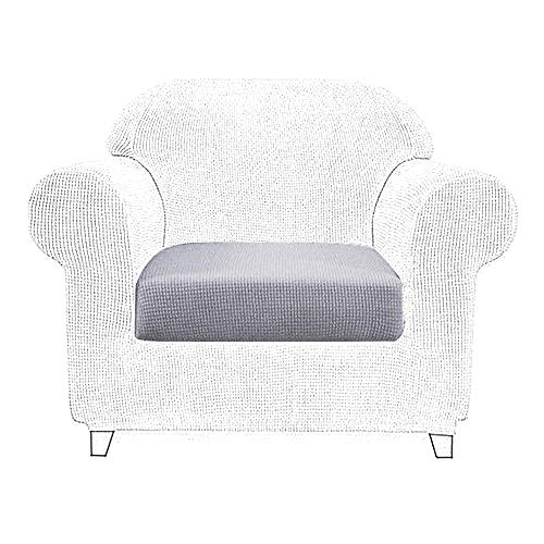 Littleduck Sofa Cushion Covers 1 Seater Elastic Furniture Pet Protector Sofa Seat Couch slipcover Stretch Sofa Cover Light Grey