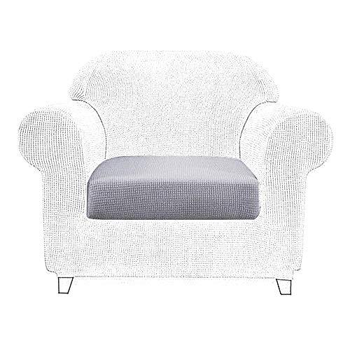 Littleduck Sofakissenbezug, elastisch, Möbelschutz, Sofaüberwurf, Sofa-Überzug, hellgrau, 1 Seater