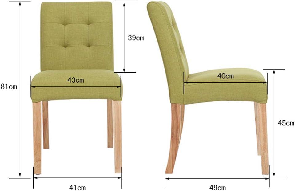 Lxn Simple Chaise à Manger décontractée à Manger en Bois Massif chairl, Lavable en Tissu rembourré, idéal pour Manger et Salon, comptoir, Bar, hôtels, Bureau- 1PCS Dark Blue