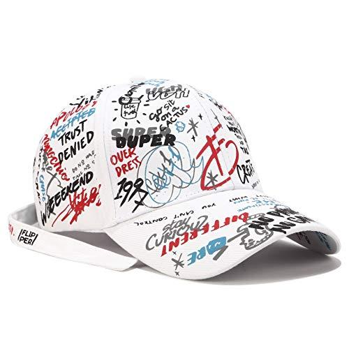 wtnhz Artículos de Moda Sombreros de béisbol de Graffiti Blanco para Hombres y Mujeres.Regalo de Vacaciones
