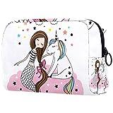 Bolsa de maquillaje de dibujos animados bolsa de cosméticos impresa artículos de tocador bolsas de viaje bolsas de cosméticos para las mujeres de la niña de diente de león
