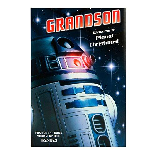 Hallmark Star Wars Weihnachtskarte für den Enkel 'Welcome Planet'- Medium