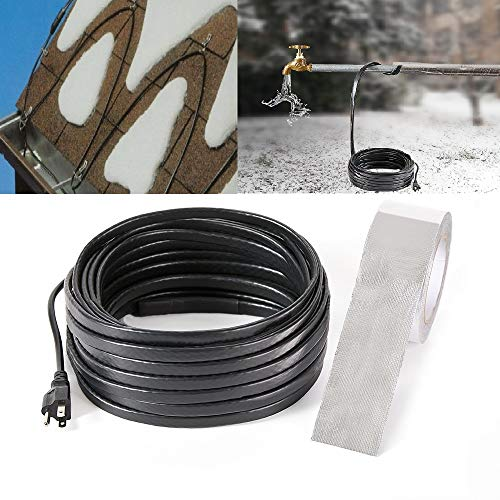 H&G lifestyles Roof Snow De-Icing Kit Self-Regulating-Plug-in Ready Heat Cable 18 feet 8 Watts Per Foot