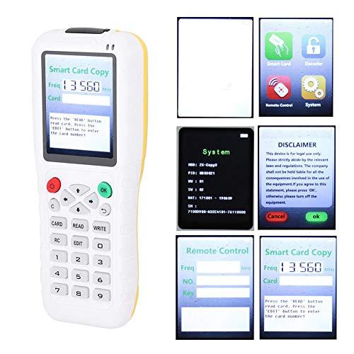 Lector de tarjetas IC, ID de interfaz USB de mano multifrecuencia Copiadora Lector Escritor RFID Duplicador de llave de teléfono de puerta con función de copia inalámbrica ID/IC/MF1/125 KHz 13.56MHz p
