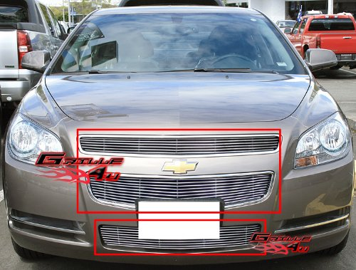 APS Compatible with 2008-2012 Chevy Malibu Billet Grille Grill Combo Insert S18-A51016C