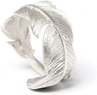 Helen de Lete Simple Style Original Feather From Heaven 925 Sterling Silver Open Ring