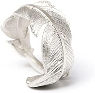 Simple Style Original Feather From Heaven 925 Sterling Silver Open Ring