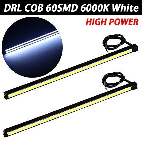Taben fin étanche de voiture 12 V à LED COB Lampes haute puissance DRL brouillard Conduite lampe Blanc (lot de 2)