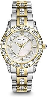 Bulova Women's Quartz Watch Metal Bracelet analog Display and Stainless Steel Strap, 98L135
