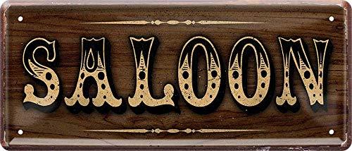 Saloon Western Ranch 28 x 12 cm Spruch Deko Blechschild 1192
