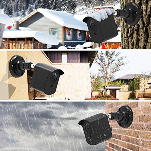 Wyze Cam Wall Mount Cover for Wyzecam Ismart Spot, 360 Degrees Protective Adjustable Indoor and Outdoor Wall and Ceiling Mount with Case for Wyze 1080p by, 3 Pack, Black