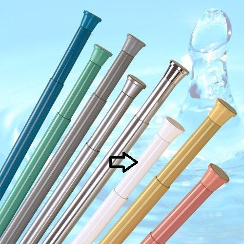 no brand barre pour rideau de douche 190-300 cm blanche ** EXTRA long ** barre télescopique!