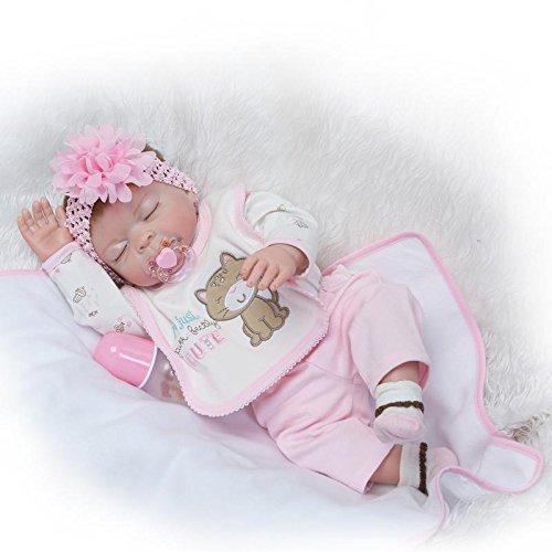 Pinky Reborn Realista 22 Pulgadas 55cmRenacer Bebé Muñecos bebé Hermosa Muñeca Silicona Bebe Reborn Toddler Niña Recien Nacido