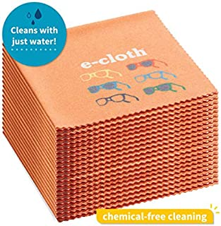 E-Cloth Glasses Microfiber Cleaning Cloth for Cleaning Eyeglasses & Sunglasses, 20 Count