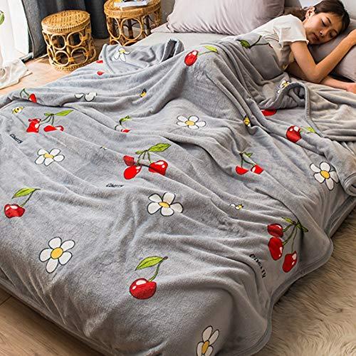 OUPAI Manta de felpa para sofá, manta de microfibra para todas las estaciones, felpa cálida y esponjosa, para otoño invierno y primavera (230250 cm) (color: B, tamaño: 180200 cm/7078 pulgadas)